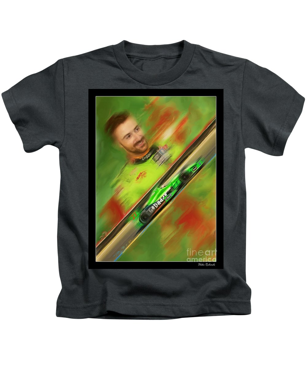 James Hinchcliffe Kids T-Shirt featuring the photograph James Hinchcliffe by Blake Richards