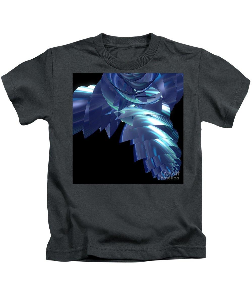 First Star Art Kids T-Shirt featuring the digital art Jammer Turbo Sheen 001 by First Star Art