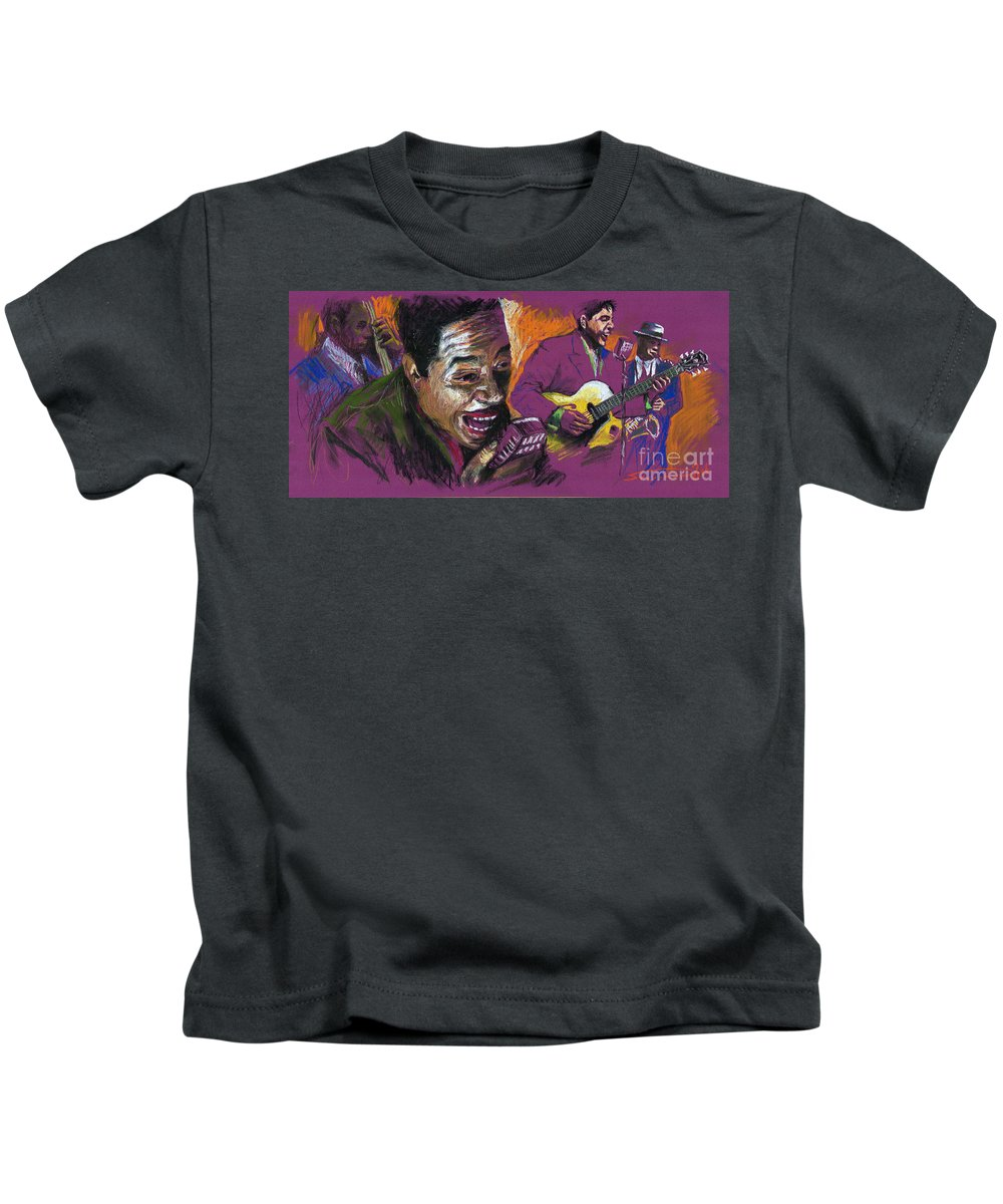 Jazz Kids T-Shirt featuring the pastel Jazz Songer by Yuriy Shevchuk