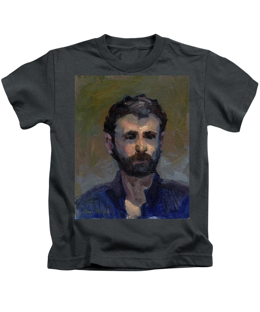 Jeff Kids T-Shirt featuring the painting Jeff by Diane McClary