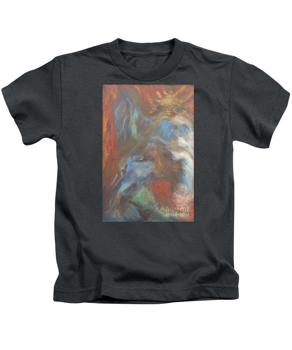 Jesus Kids T-Shirt featuring the painting Jesus Manifestations by Barbie Corbett-Newmin