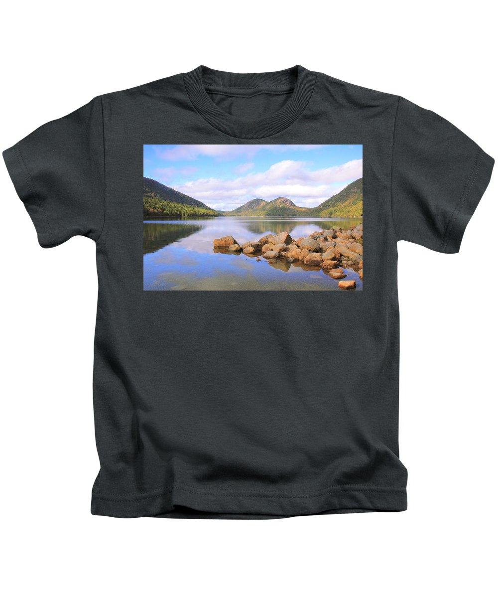 Jordan Pond Kids T-Shirt featuring the photograph Jordan Pond by Roupen Baker