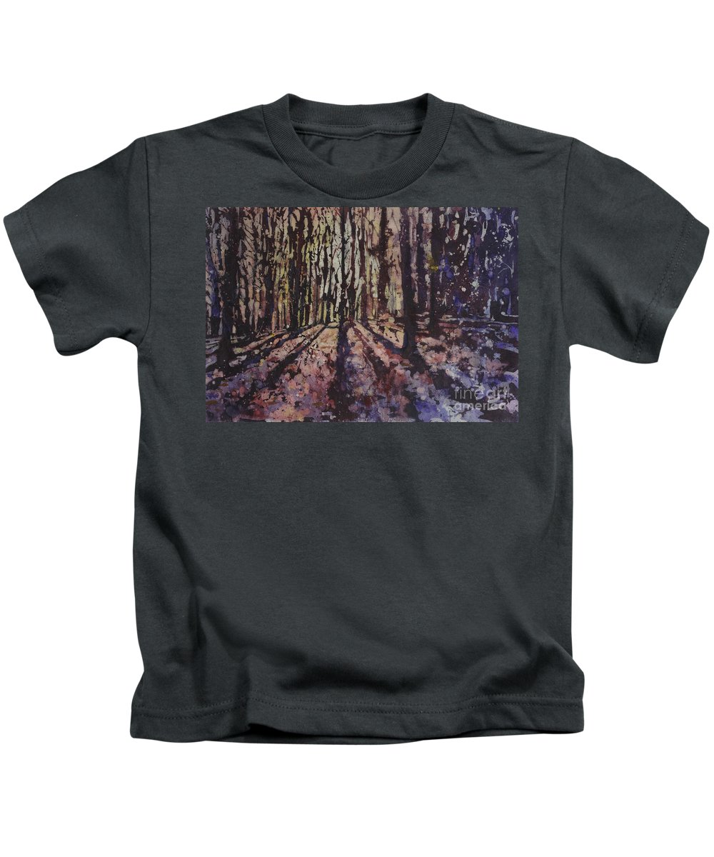 Batik Kids T-Shirt featuring the painting Just Out Of Reach by Ryan Fox
