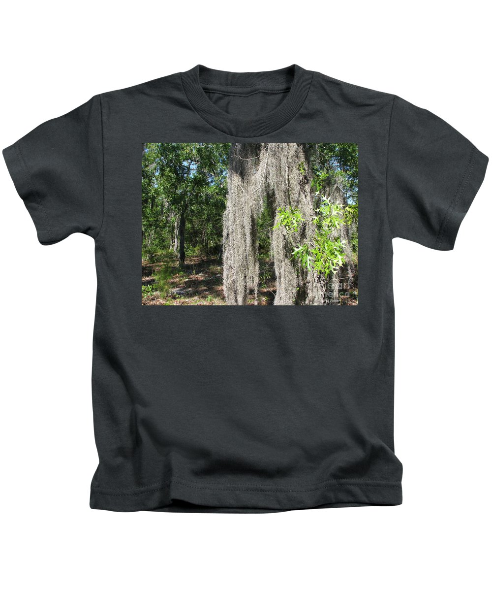 Patzer Kids T-Shirt featuring the photograph Just The Backyard by Greg Patzer