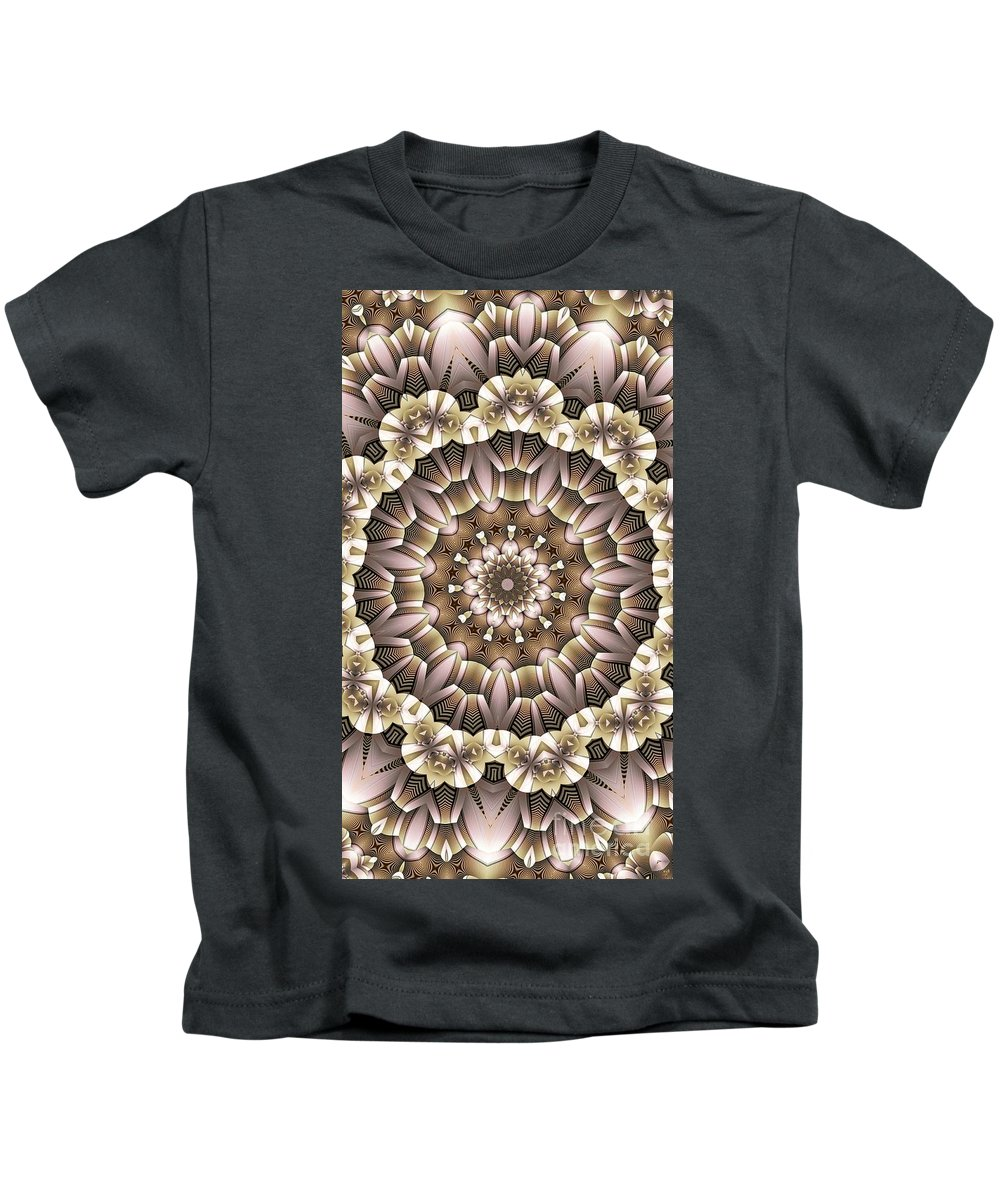 Kaleidoscope Kids T-Shirt featuring the digital art Kaleidoscope 65 by Ron Bissett