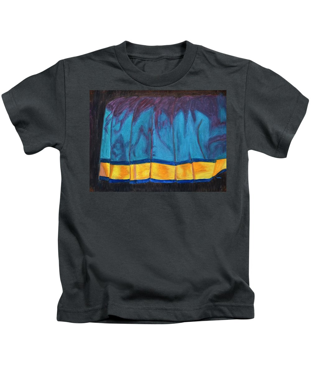 Kanchee Kids T-Shirt featuring the painting Kanchi Saree by Usha Shantharam