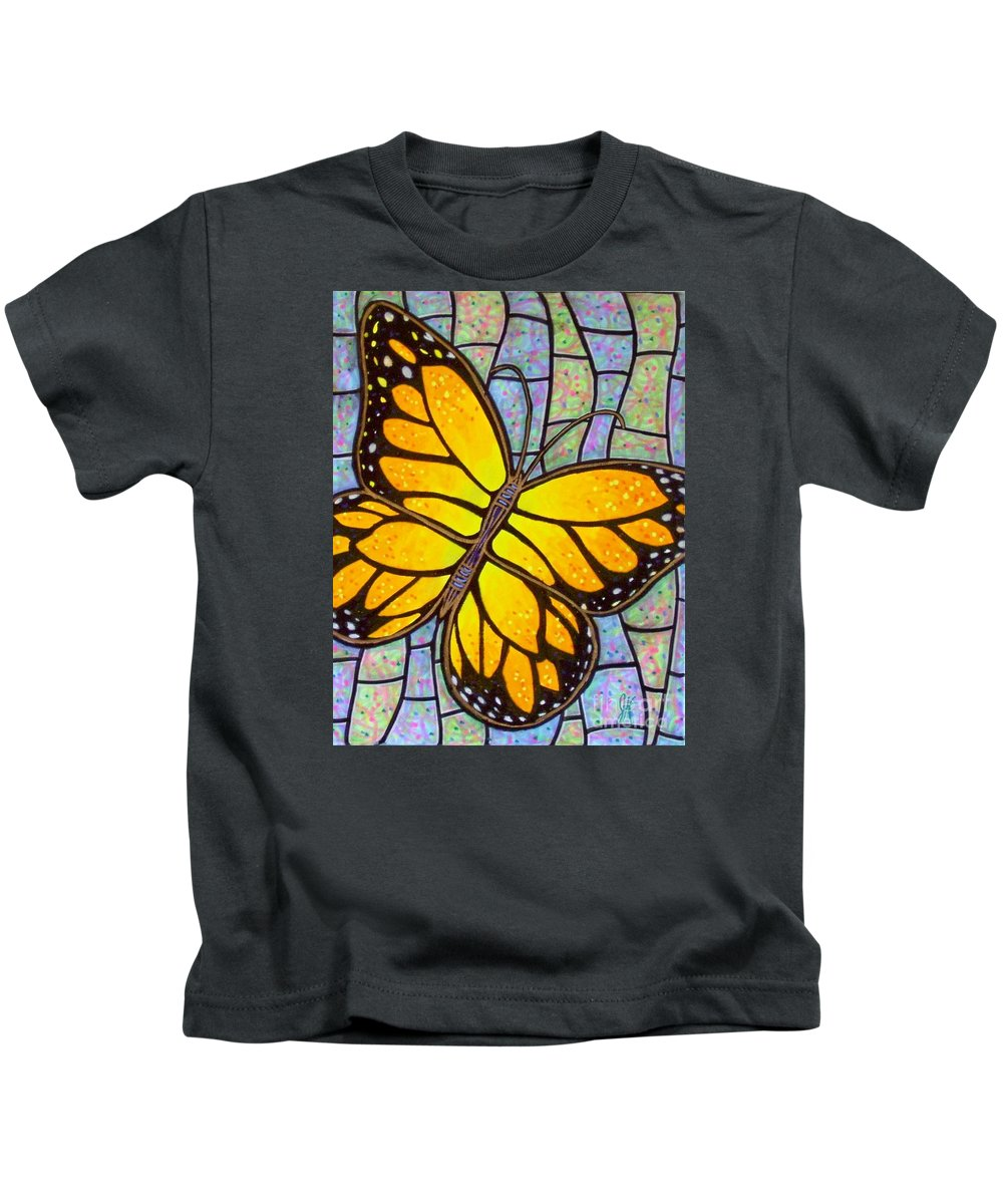 Butterflies Kids T-Shirt featuring the painting Karens Butterfly by Jim Harris