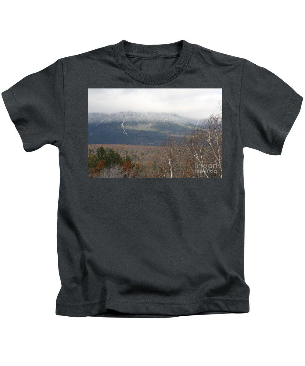 Mount Katahdin Kids T-Shirt featuring the photograph Katahdin_8256 by Joseph Marquis