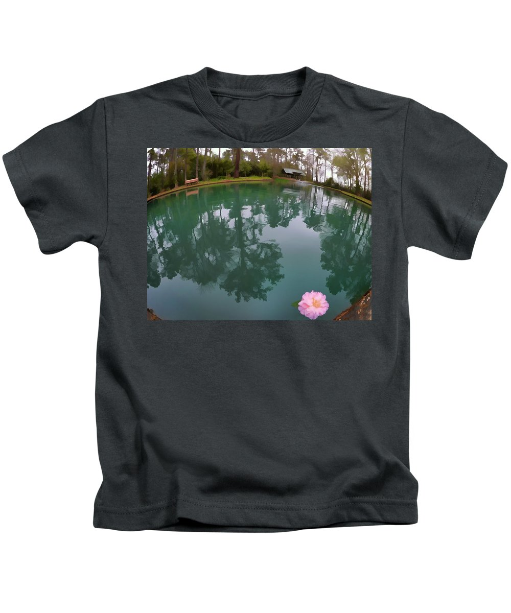 Flowers Kids T-Shirt featuring the photograph Kayla's Flower by Tina Baxter