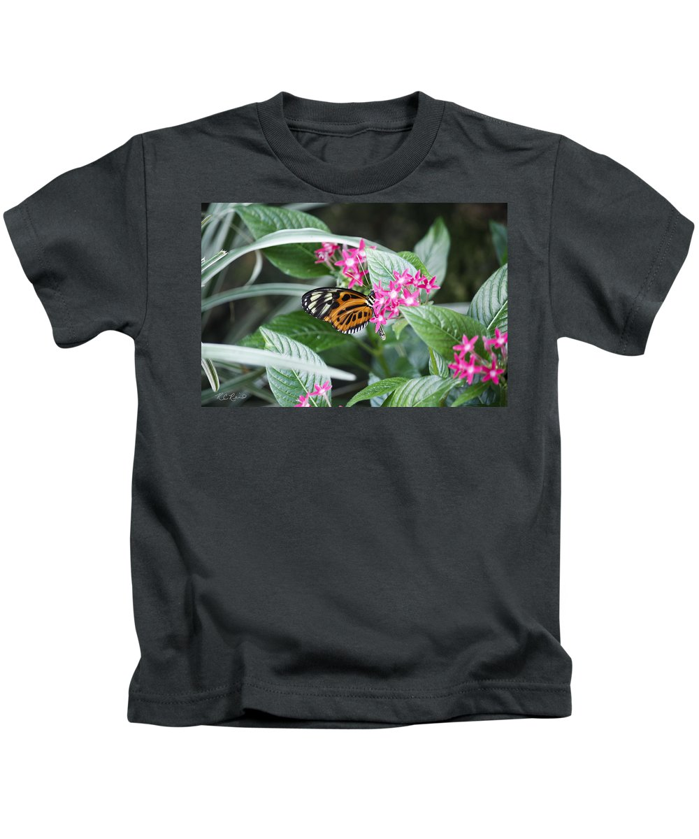 Florida Kids T-Shirt featuring the photograph Key West Butterfly Conservatory - Monarch Danaus Plexippus 2 by Ronald Reid