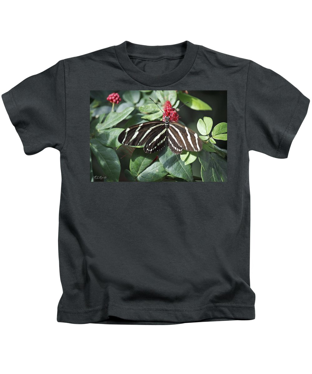 Florida Kids T-Shirt featuring the photograph Key West Butterfly Conservatory - Zebra Heliconian by Ronald Reid