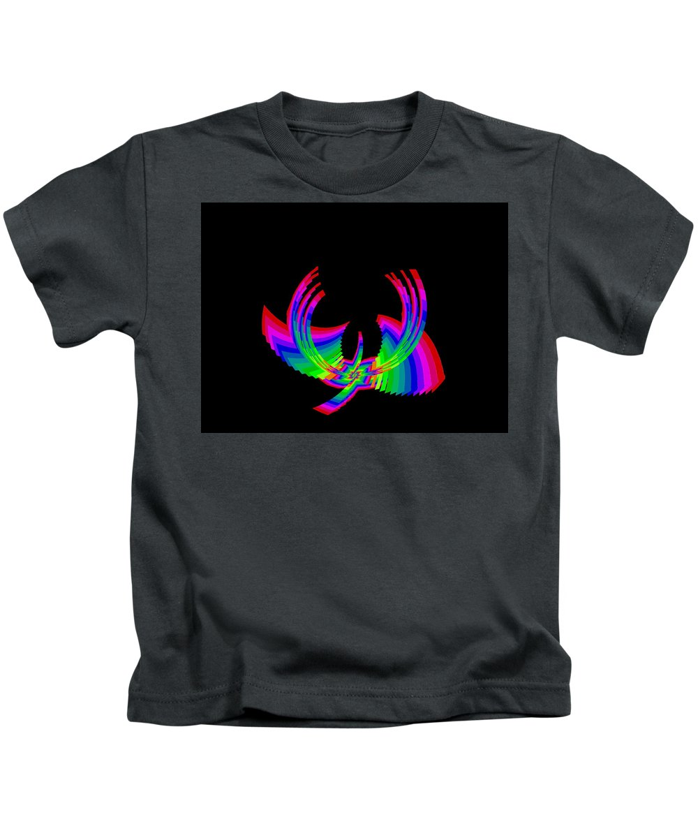 Abstract Kids T-Shirt featuring the digital art Kinetic Rainbow 49 by Tim Allen