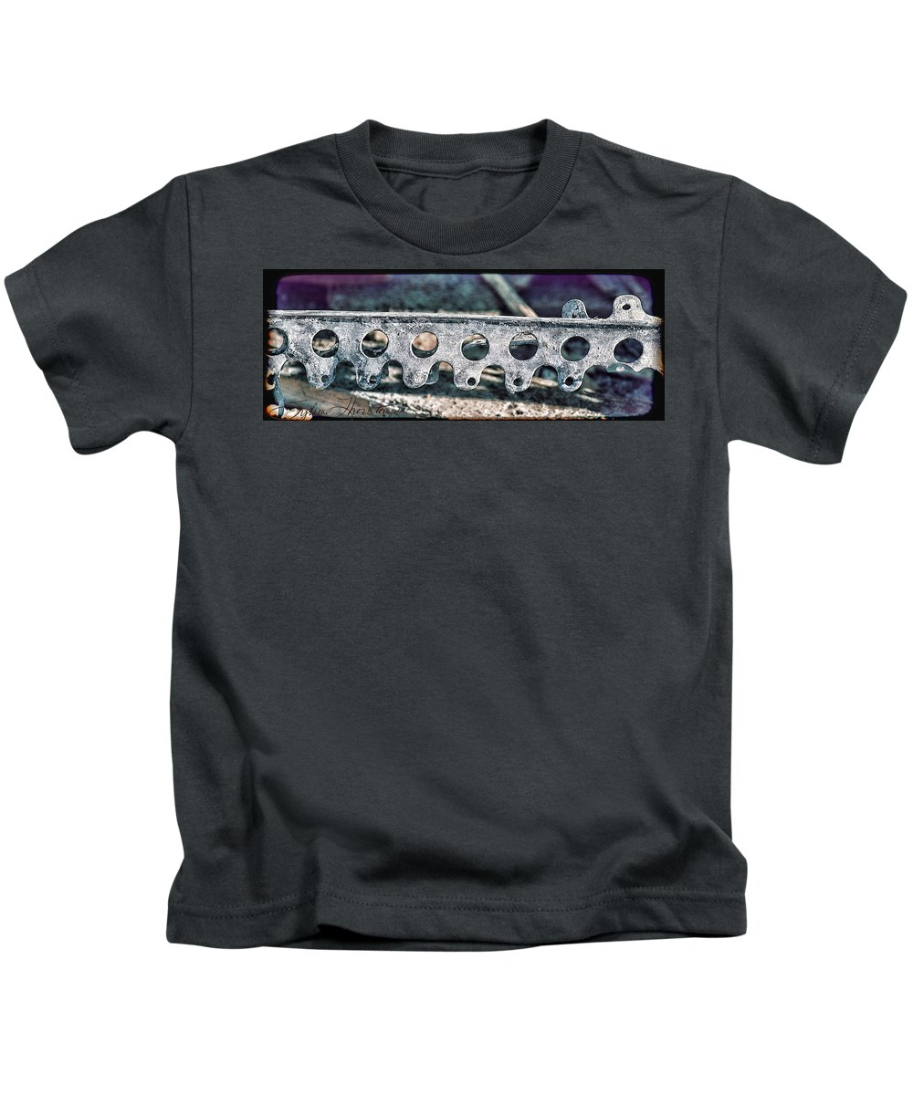 Abstract Art Kids T-Shirt featuring the photograph Lace I by Sylvia Thornton