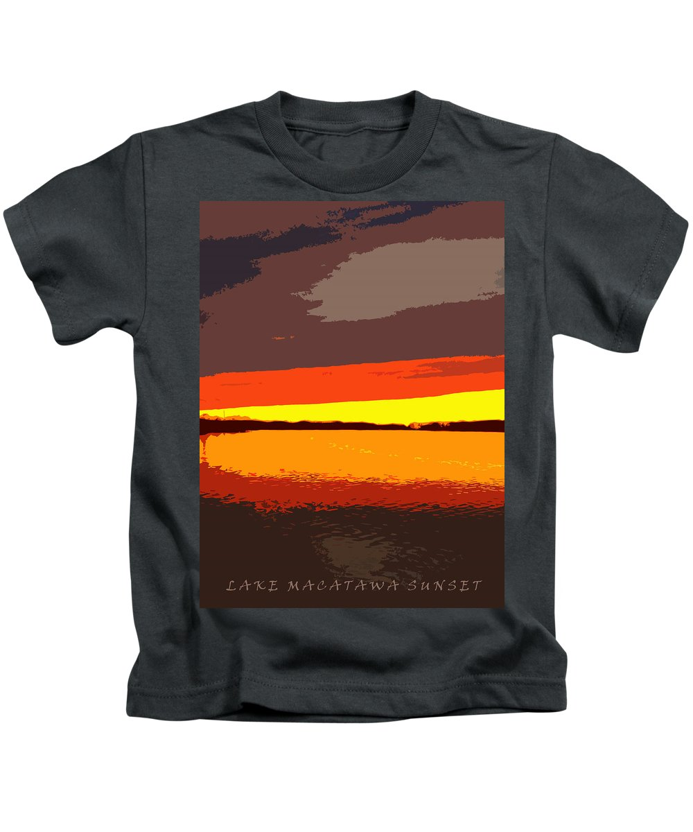 Sunset Kids T-Shirt featuring the photograph Lake Macatawa Sunset by Michelle Calkins