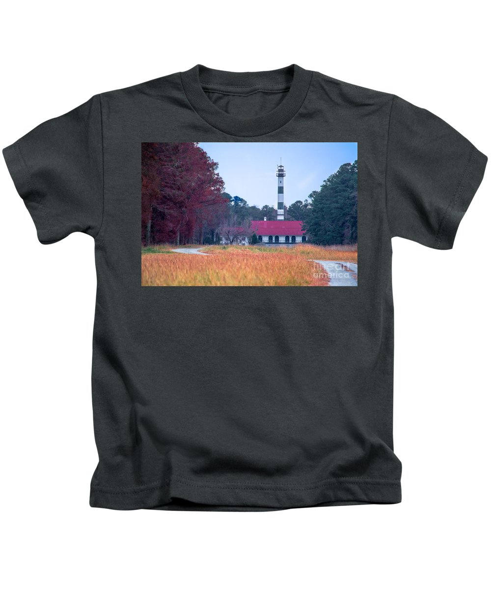 Pump Kids T-Shirt featuring the photograph Lake Mattamuskeet Pumping Station by Scott Hervieux