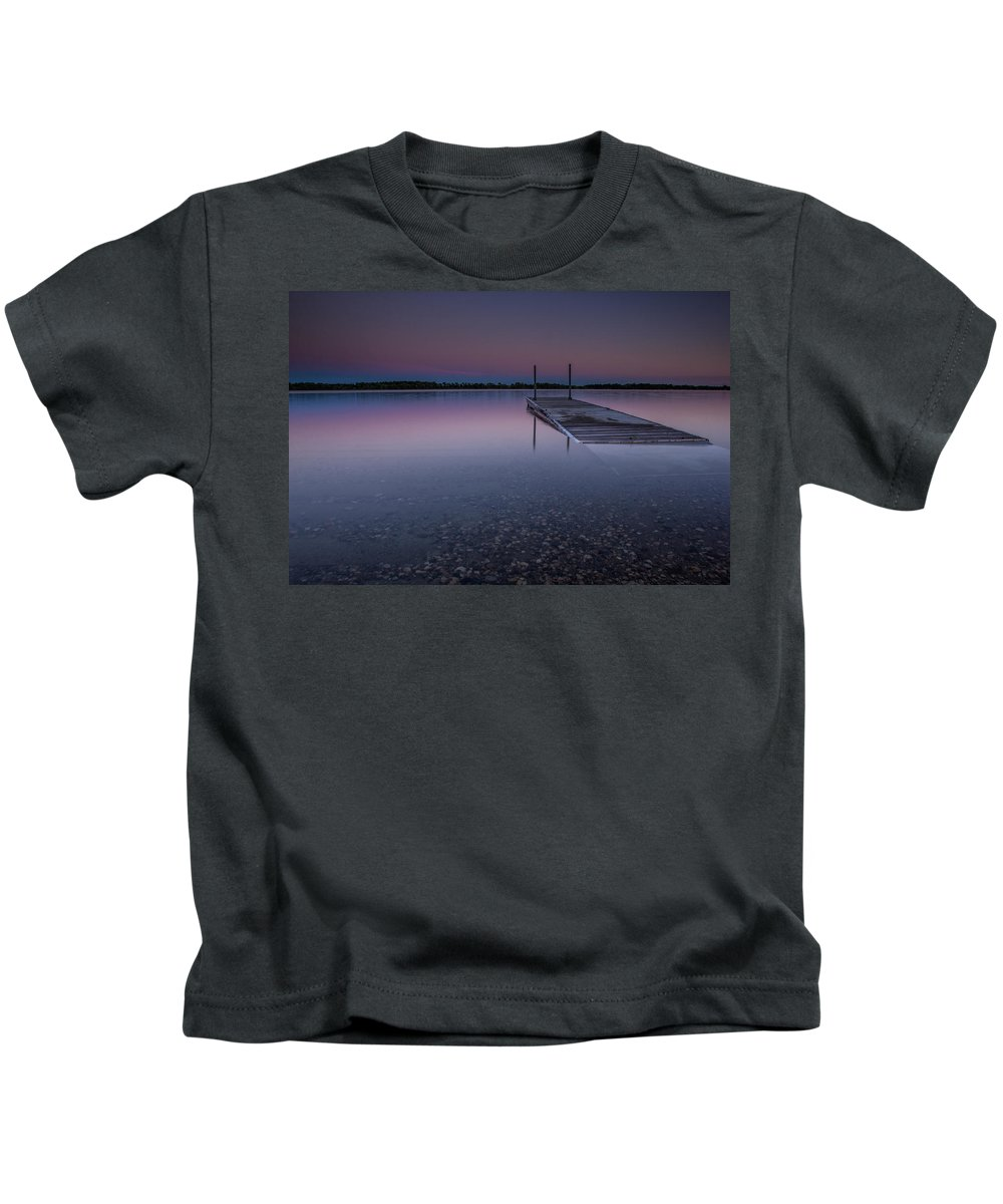 Lee Filters Kids T-Shirt featuring the photograph Lake Shaokatan by Aaron J Groen
