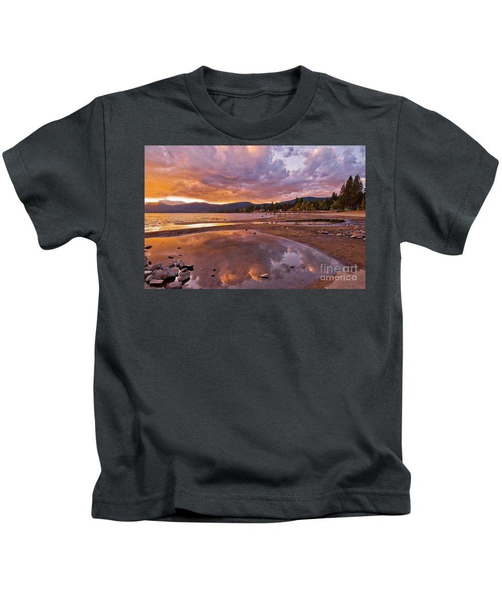 Lake Tahoe Landscape Kids T-Shirt featuring the photograph Lake Tahoe by Mae Wertz