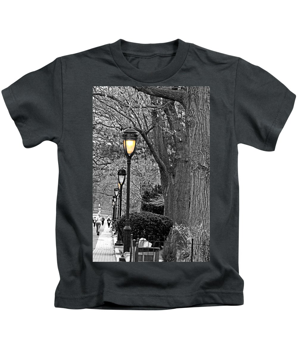 Trees Kids T-Shirt featuring the photograph Lamp Lite by Tom Gari Gallery-Three-Photography