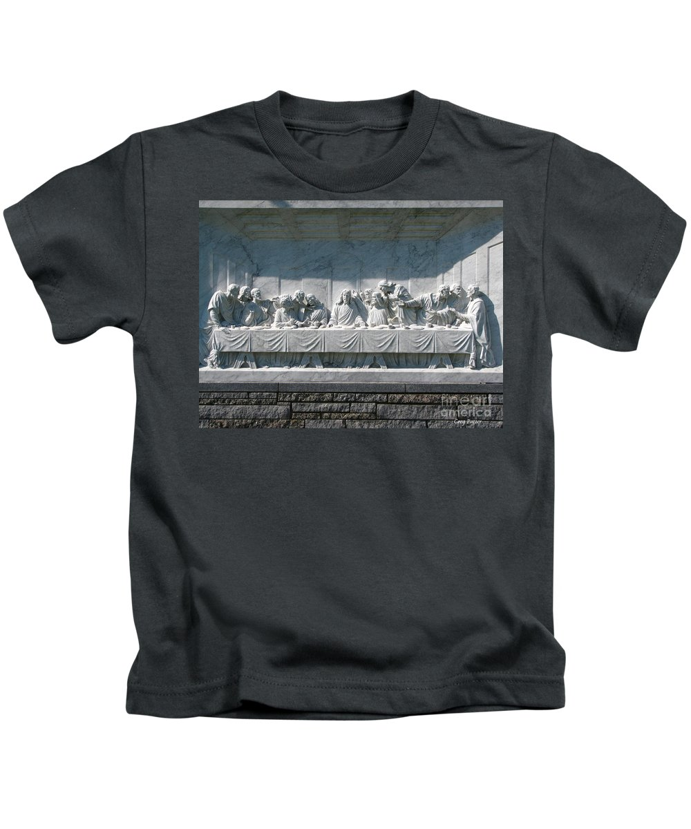 Art For The Wall...patzer Photography Kids T-Shirt featuring the photograph Last Supper by Greg Patzer