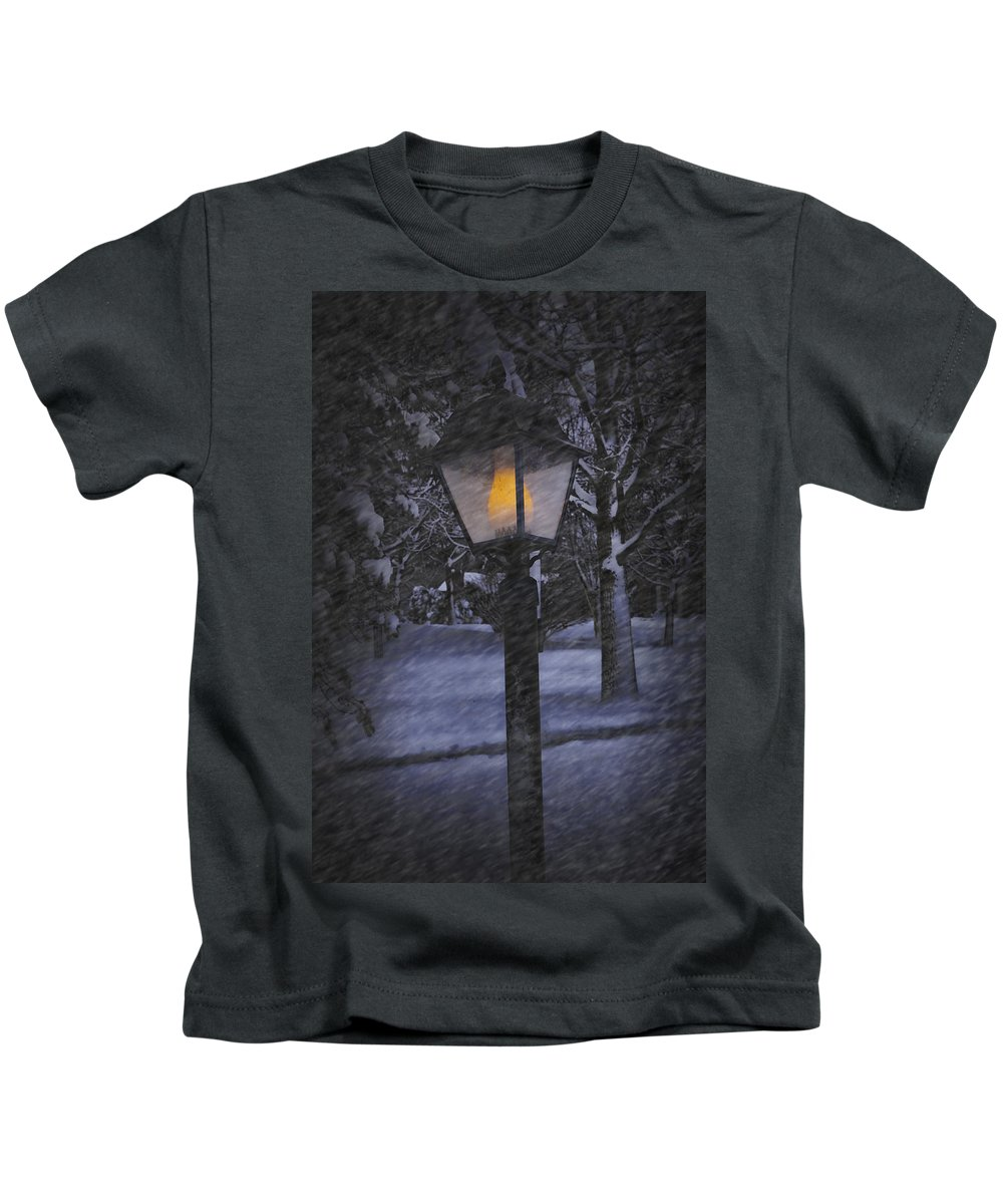 Art Kids T-Shirt featuring the photograph Leave The Light On by Randall Nyhof