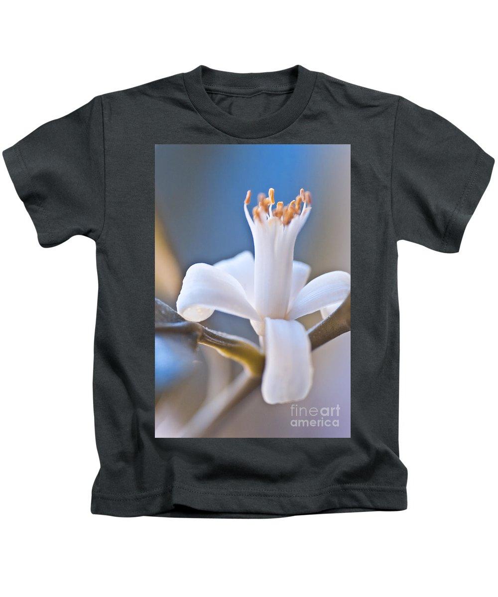 Heiko Kids T-Shirt featuring the photograph Lemon Blossom by Heiko Koehrer-Wagner