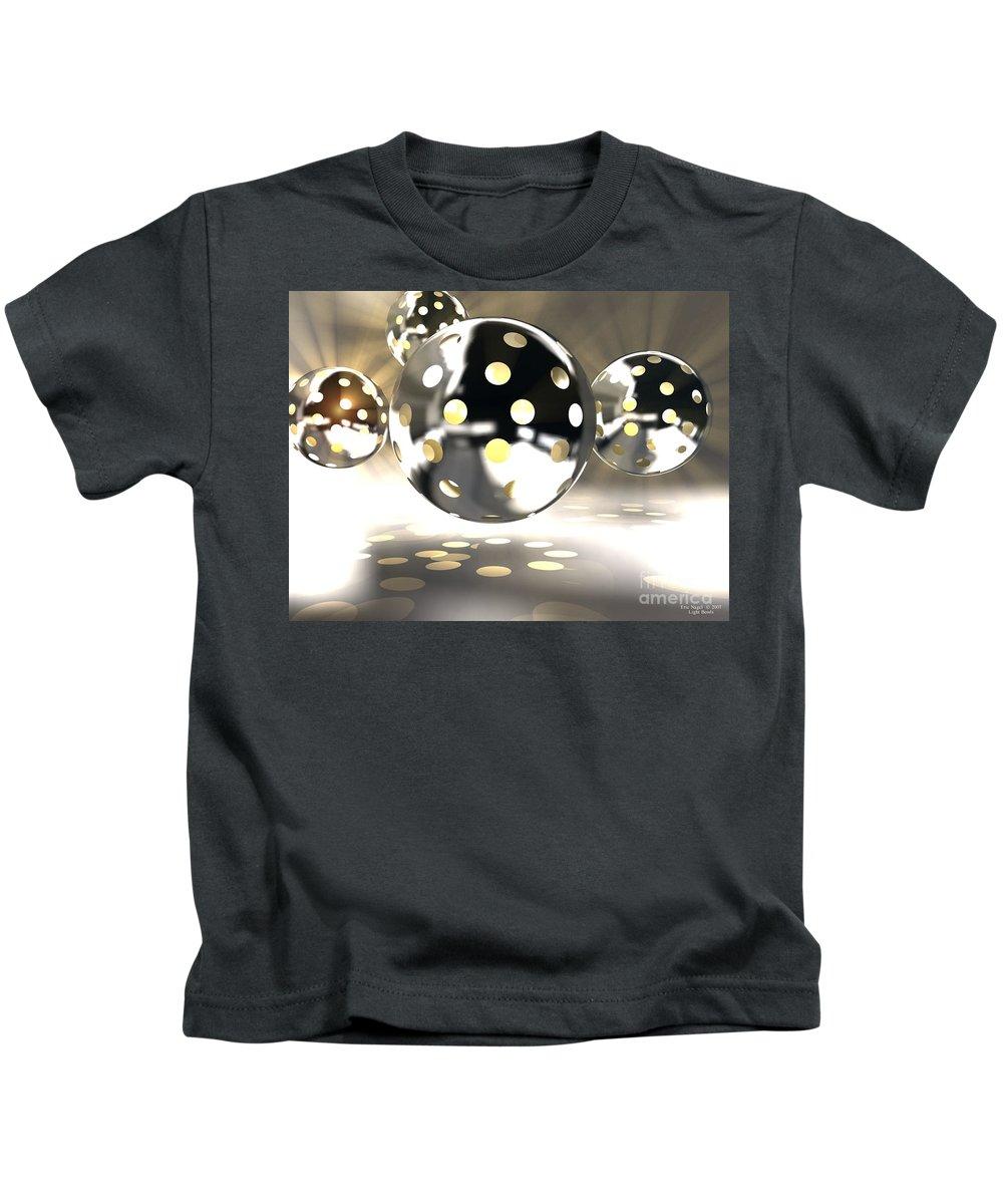 Bowls Kids T-Shirt featuring the digital art Light Bowls by Eric Nagel