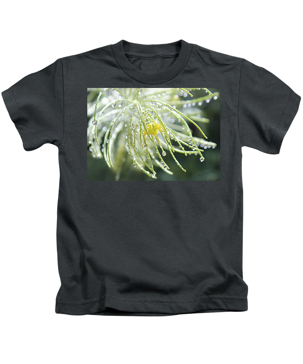 Water Drops Kids T-Shirt featuring the photograph Light Catchers by Kume Bryant