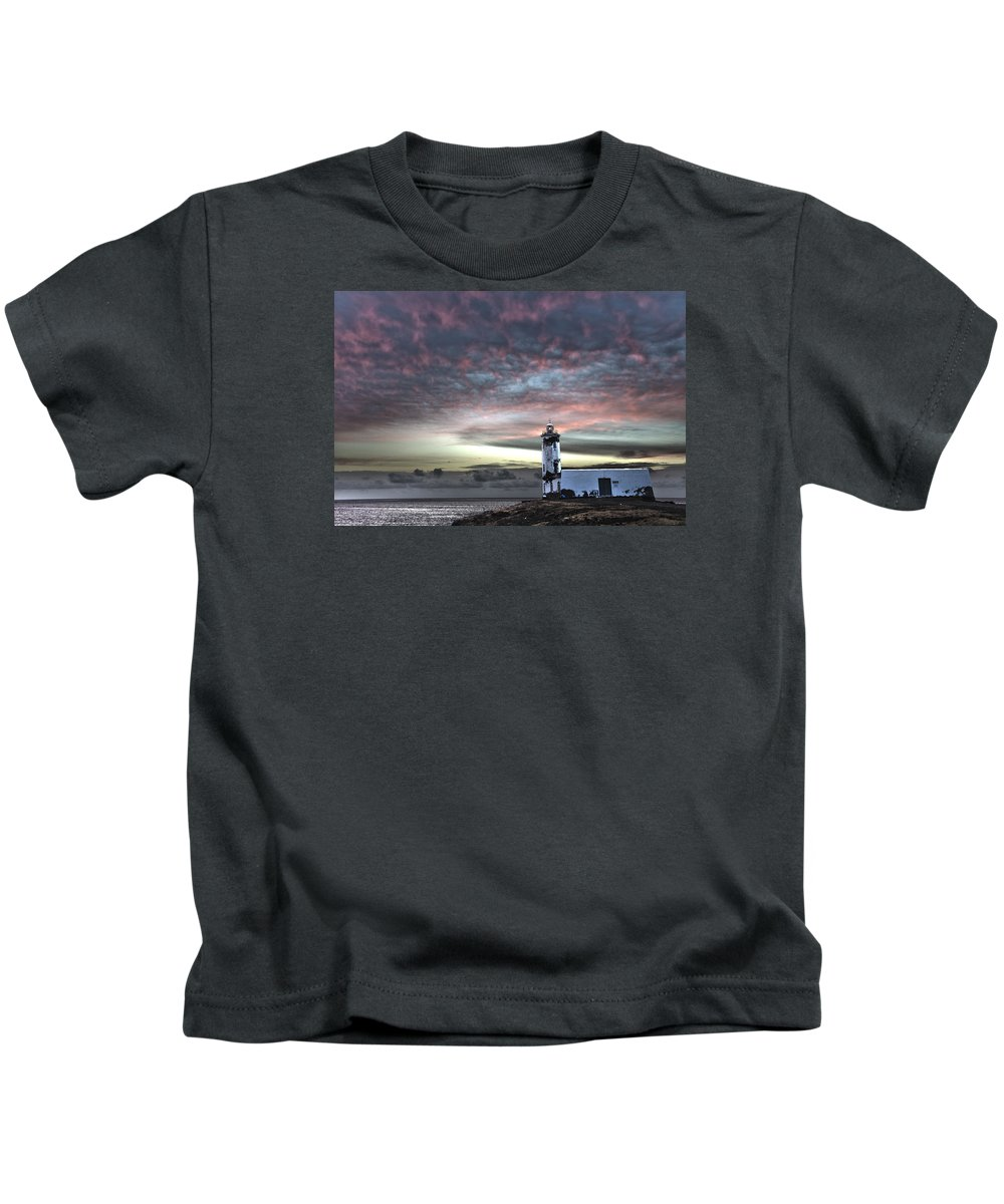 Acting Kids T-Shirt featuring the photograph Lighthouse Maria Pia by Alexander Manykin