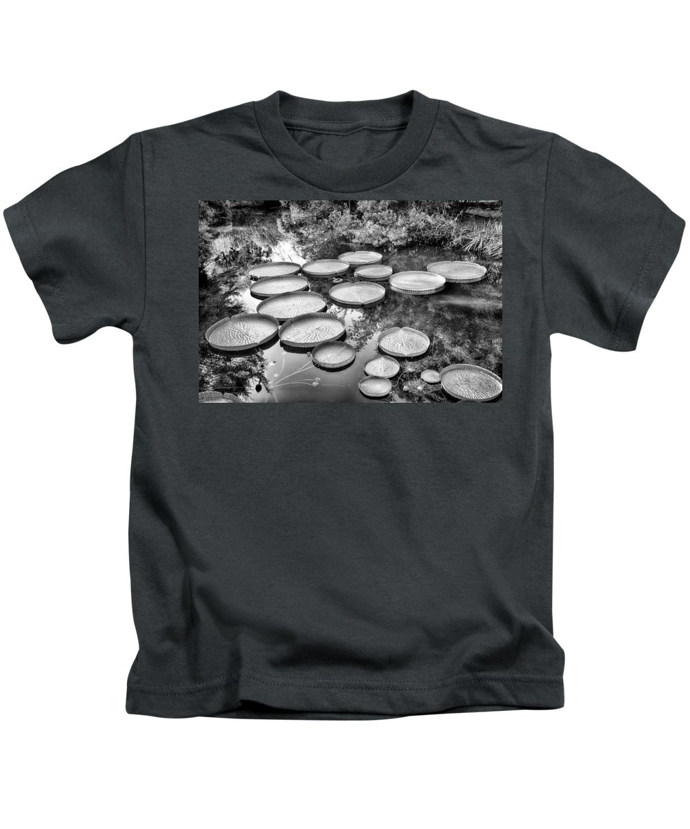 Kanapaha Kids T-Shirt featuring the photograph Lily Pads by Howard Salmon