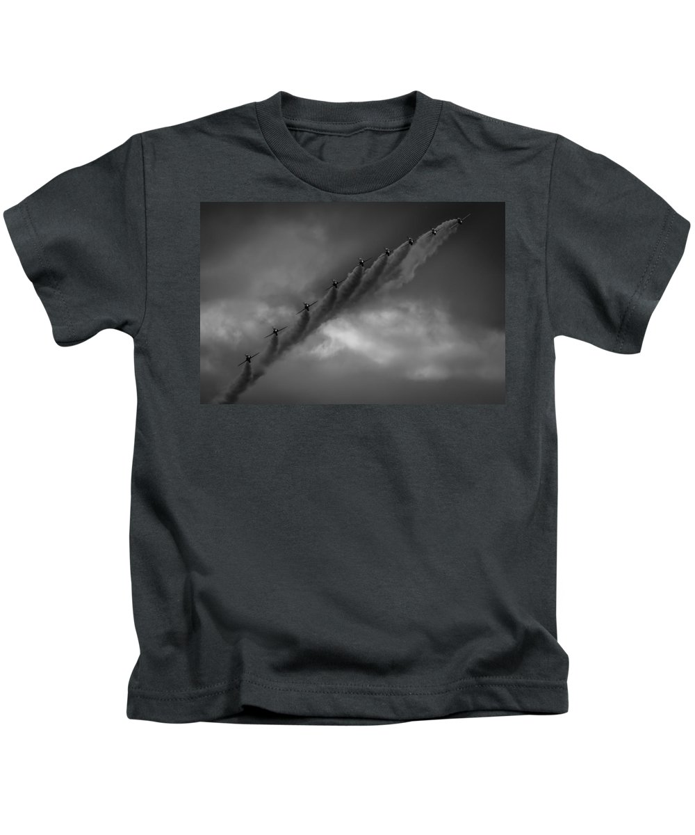 Bae Kids T-Shirt featuring the photograph Line Abreast by Gareth Burge Photography