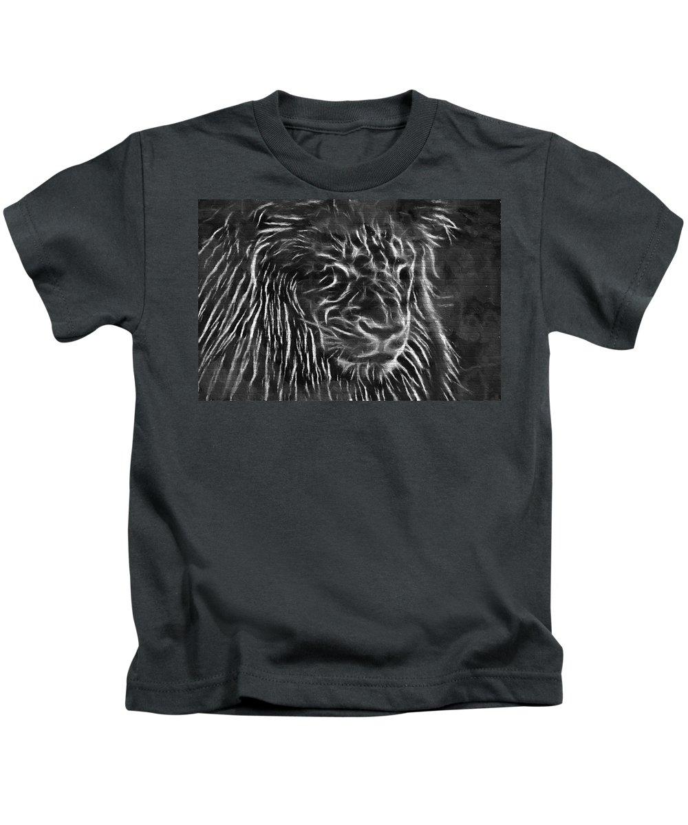 Lion Kids T-Shirt featuring the photograph Lion - 2 by Becca Buecher