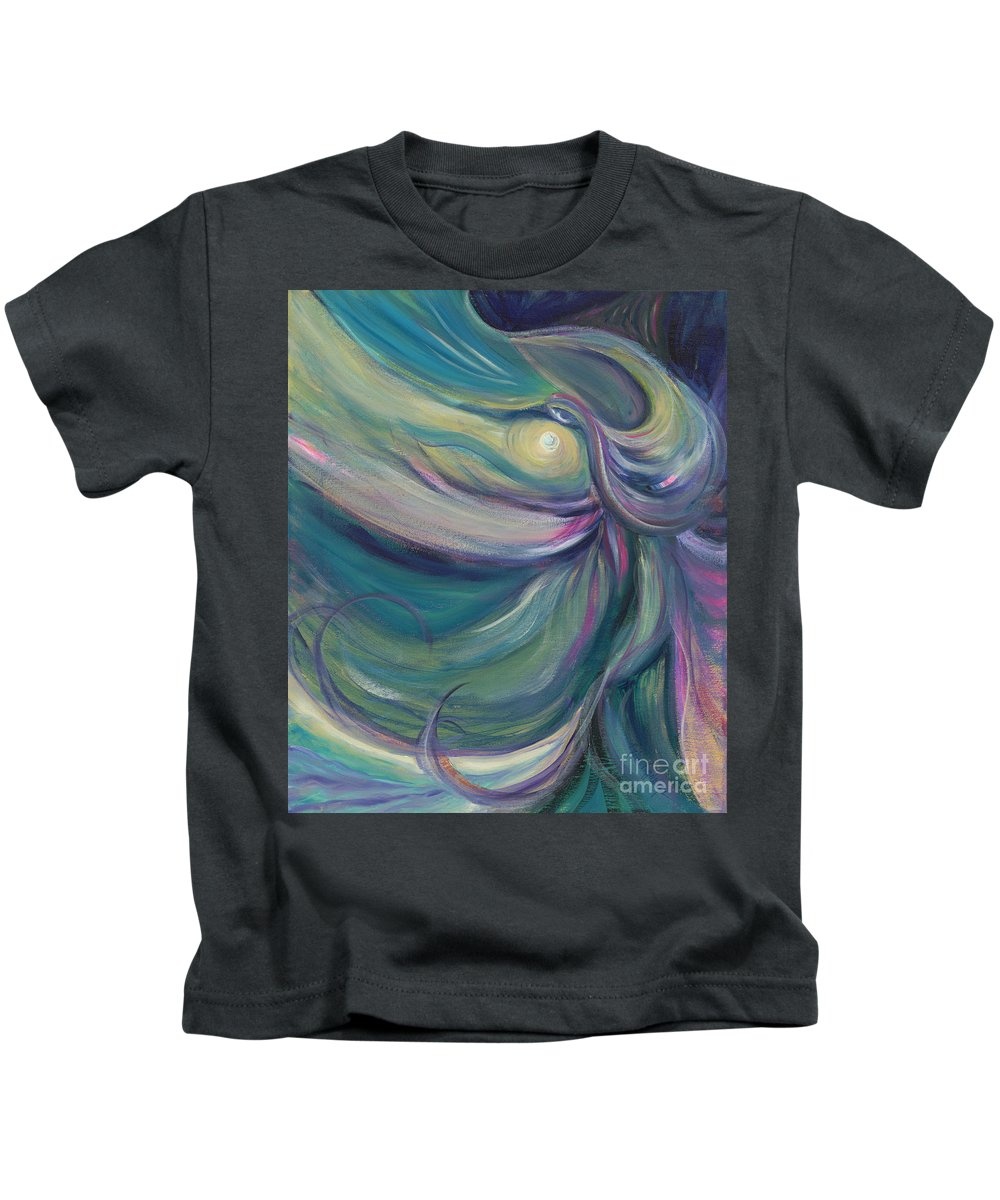 Dance Kids T-Shirt featuring the painting Liturgical Dance by Nadine Rippelmeyer