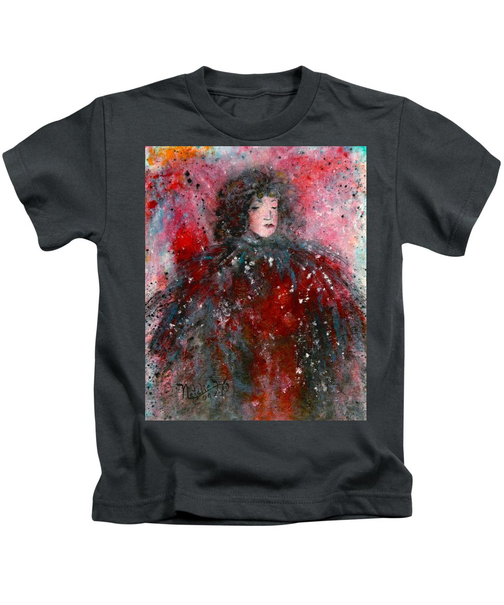 Millionairess Kids T-Shirt featuring the painting Lonely Millionairess by Natalie Holland