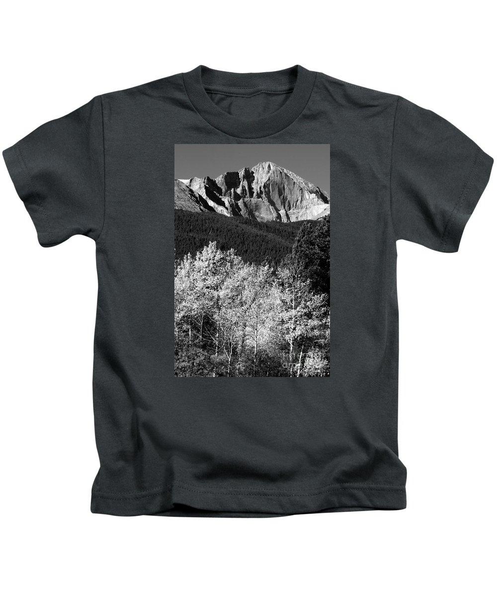 Longs Peak Kids T-Shirt featuring the photograph Longs Peak 14256 Ft by James BO Insogna
