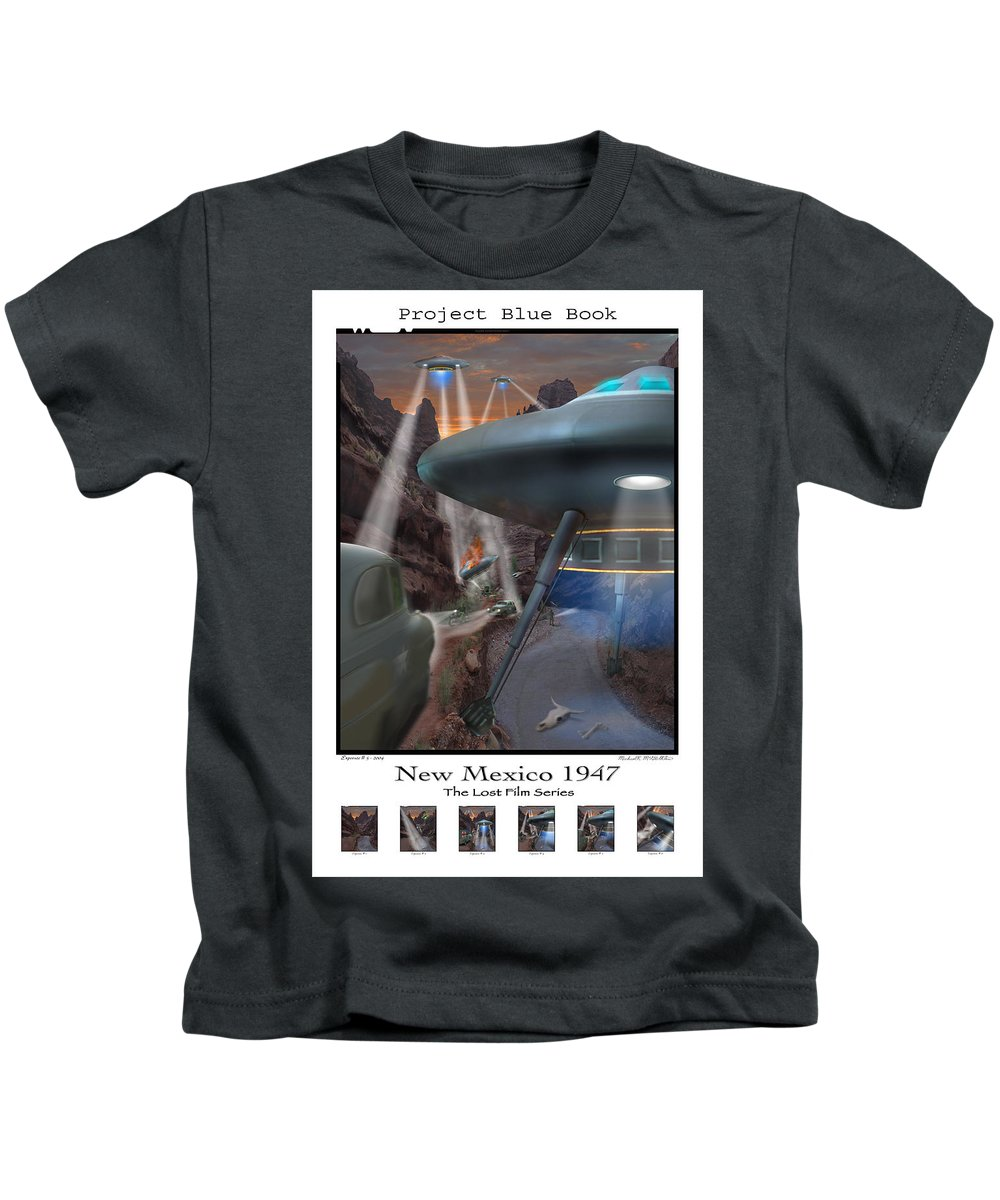 Surrealism Kids T-Shirt featuring the photograph Lost Film Number 5 Se by Mike McGlothlen