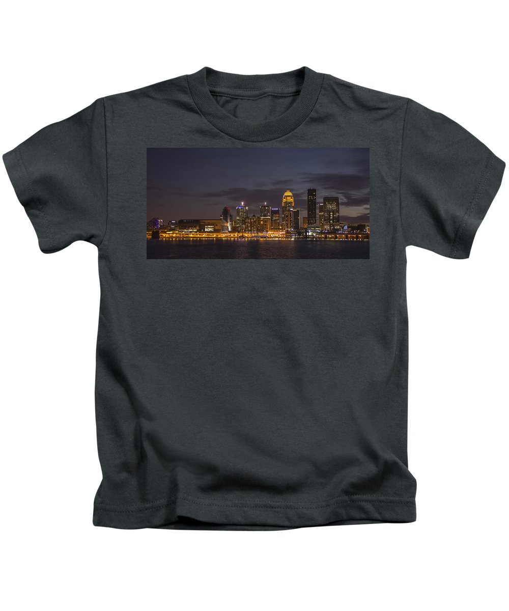 River Boat Kids T-Shirt featuring the photograph Louisville by Michael J Samuels