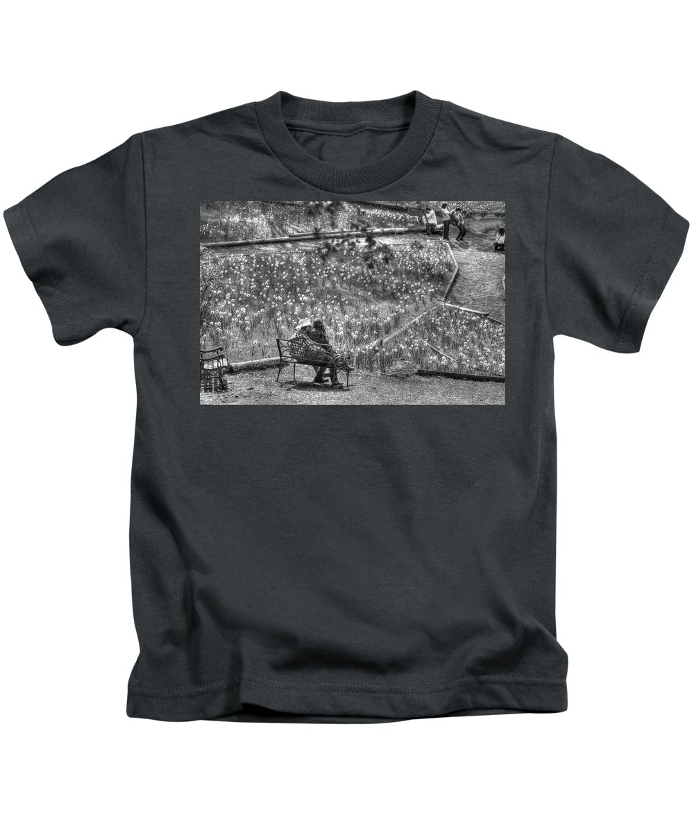 Amador Kids T-Shirt featuring the photograph Lovers On Daffodil Hill by SC Heffner