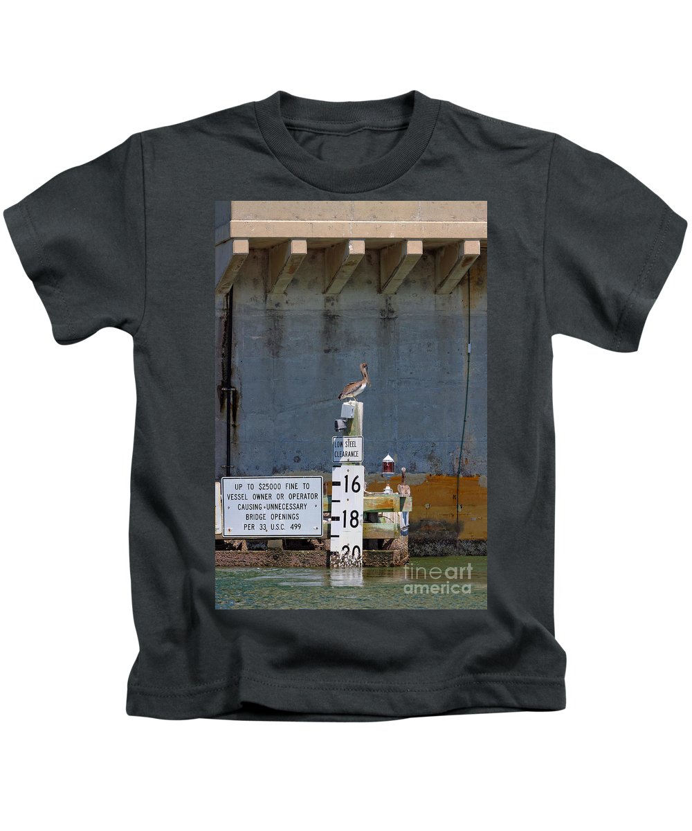 Florida Kids T-Shirt featuring the photograph Low Tide by Rick Kuperberg Sr
