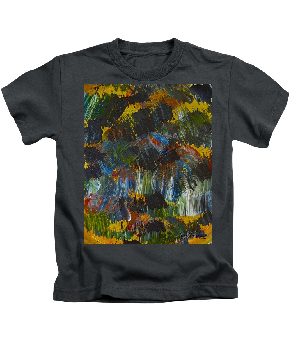 Abstract Painting Kids T-Shirt featuring the painting Intuitive Painting 609 by Joan Reese
