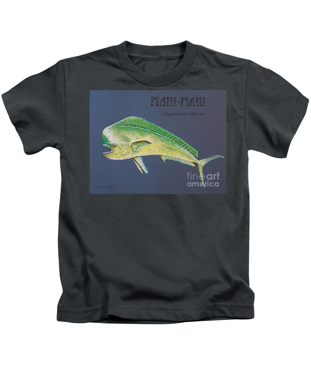 Mahi Mahi Kids T-Shirt featuring the pastel Mahi-mahi by Katharina Filus