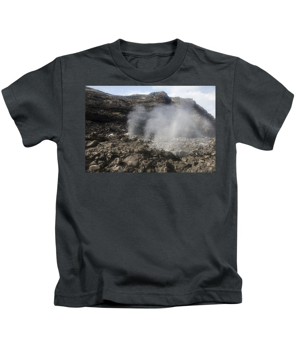 Blow Kids T-Shirt featuring the photograph Makapuu Tidepools by Brandon Tabiolo