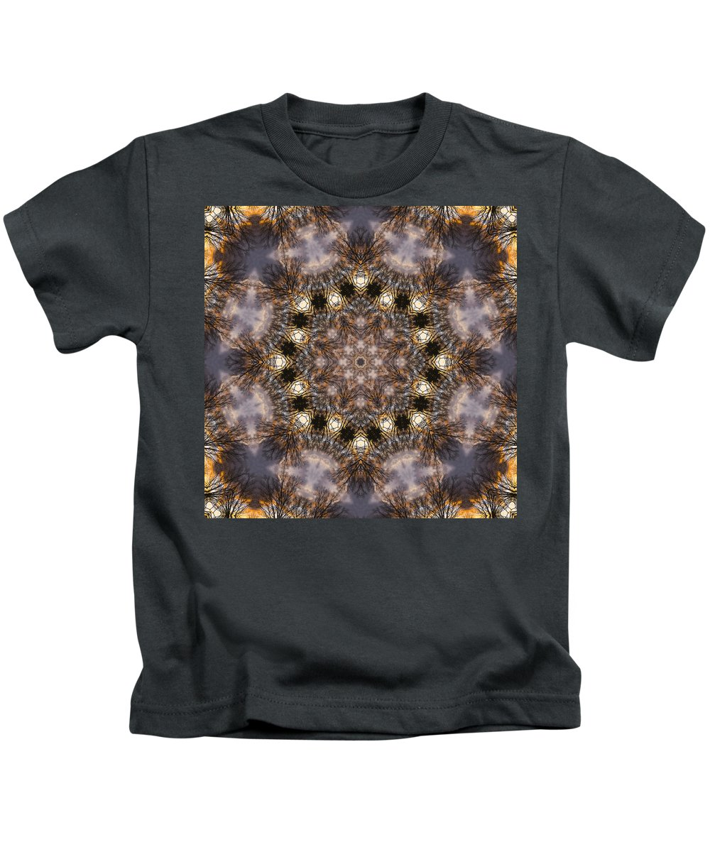 Kids T-Shirt featuring the photograph Mandala88 by Lee Santa