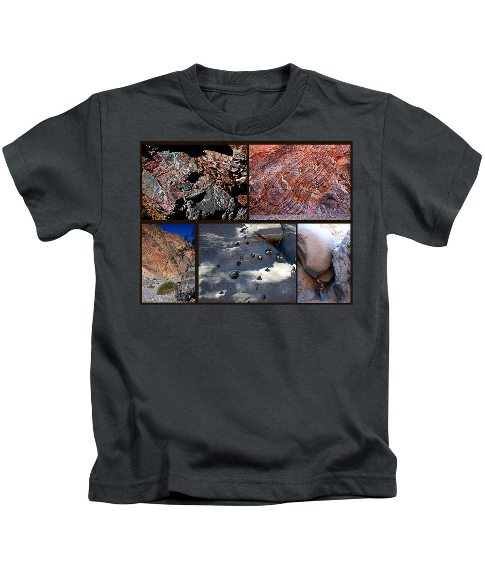 Landscape. Rock Formation Collage Kids T-Shirt featuring the photograph Marble Canyon by David Salter