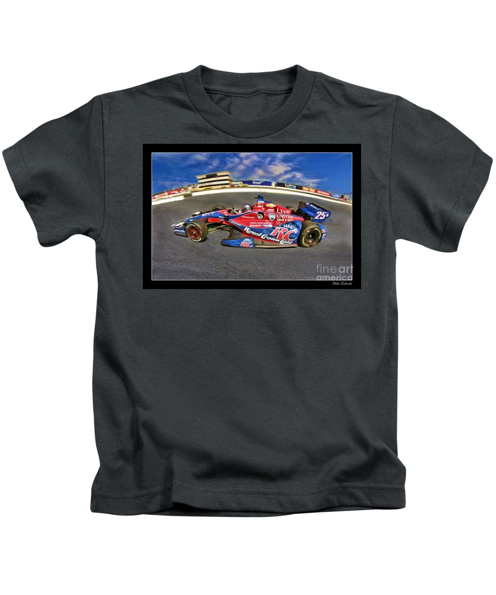 Marco Andretti Kids T-Shirt featuring the photograph Marco Andretti by Blake Richards