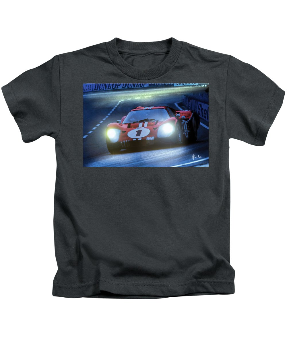 Ford Kids T-Shirt featuring the photograph Mark 4 At Night by Craig Purdie