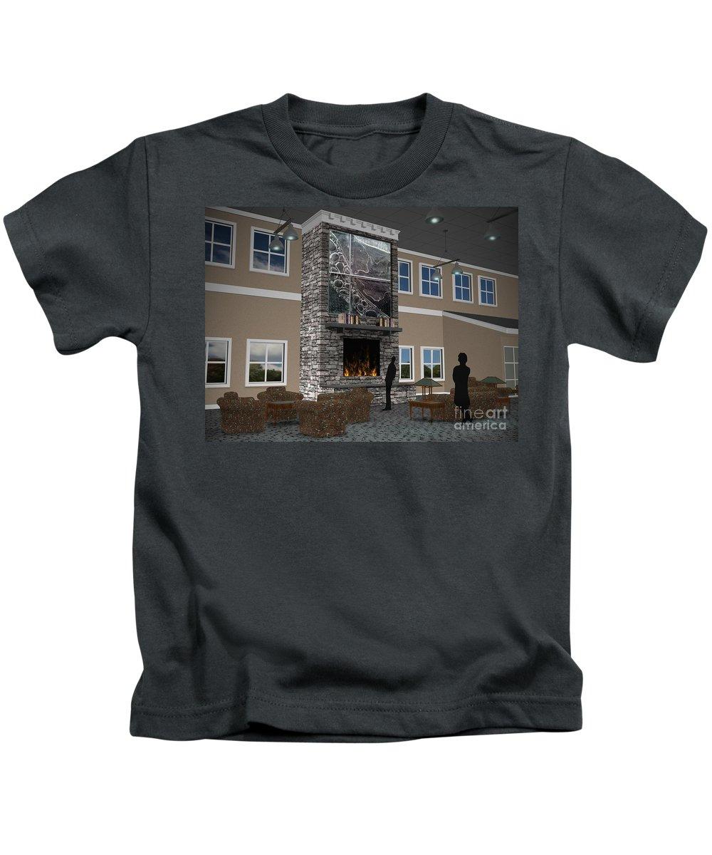 Kids T-Shirt featuring the digital art Maryland Library Proposal by Peter Piatt