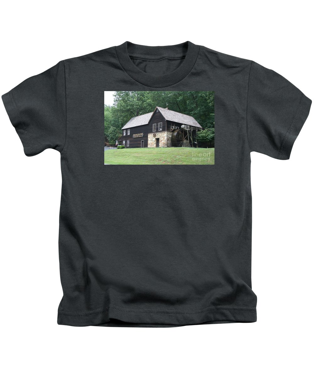 Mill Kids T-Shirt featuring the photograph Meadow Run Mill by Christiane Schulze Art And Photography