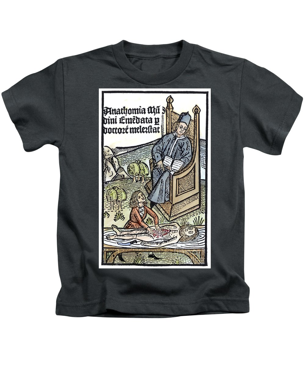 15th Century Kids T-Shirt featuring the photograph Medical Teaching, 1487 by Granger