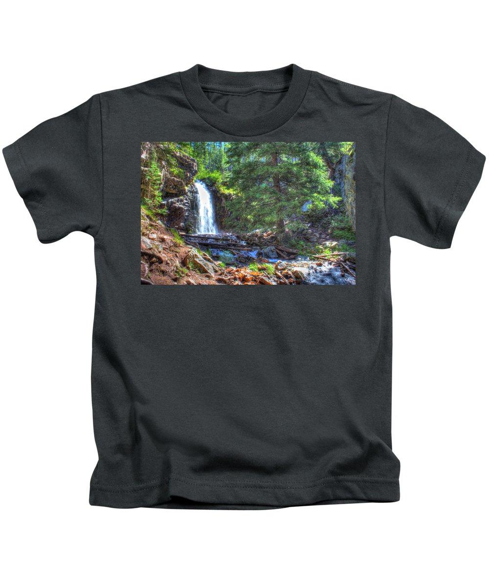 Creek Kids T-Shirt featuring the photograph Memorial Falls Logjam by John Lee