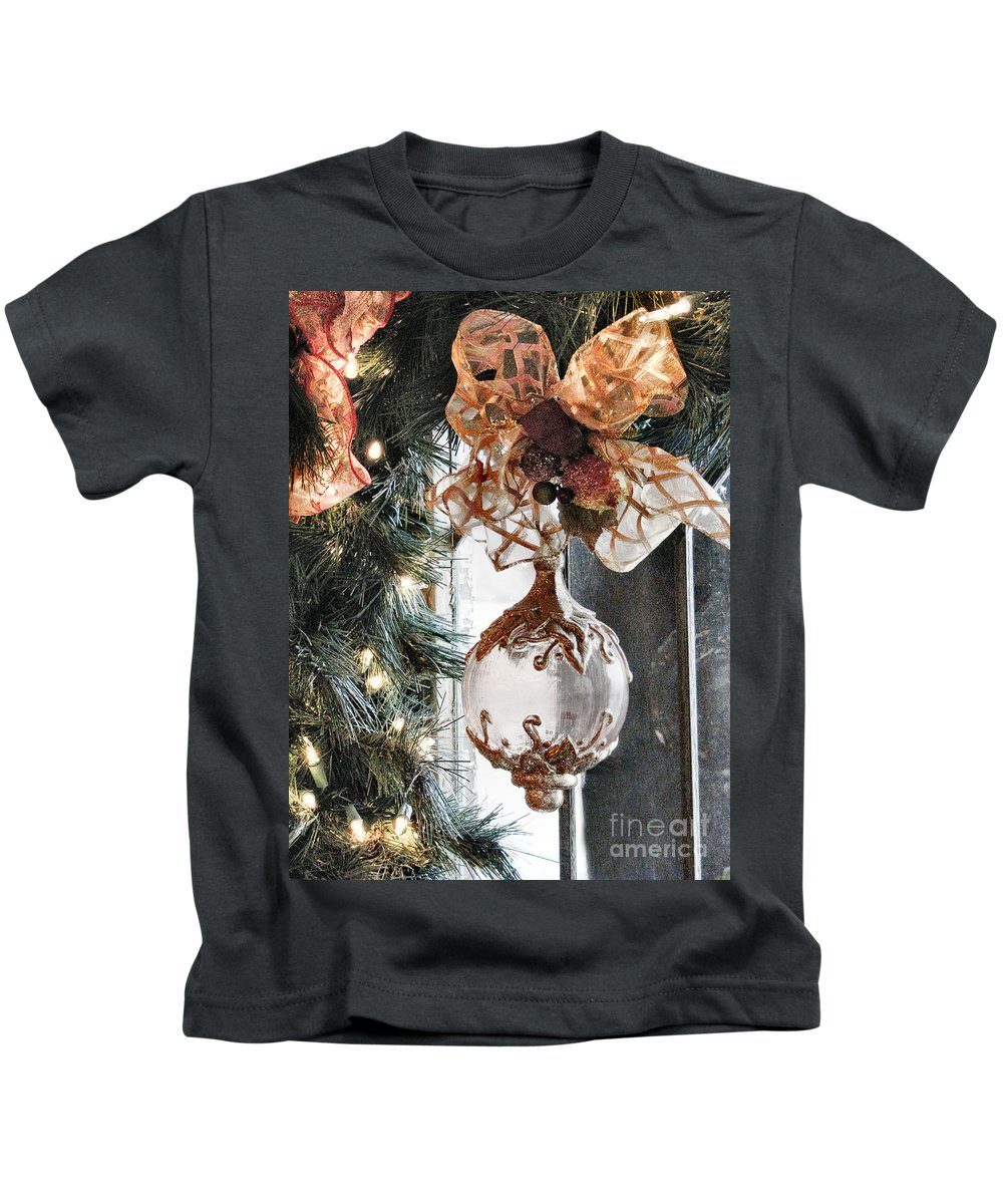 Christmas Kids T-Shirt featuring the photograph Merry Christmas by Rory Sagner